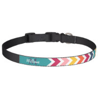 Custom Monogram chevron Pet Collar