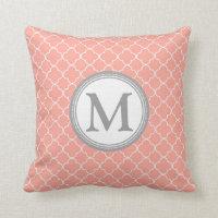 Quatrefoil Monogram Pillow