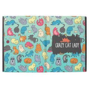 Crazy Cat Lady Cute and Playful Cat Pattern iPad Pro 12.9