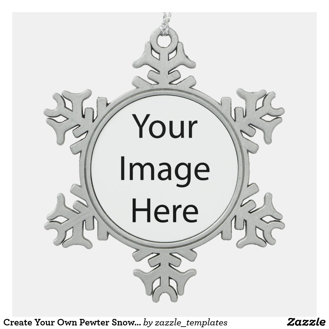 Create Your Own Pewter Snowflake Ornament
