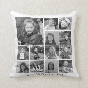 Create Your Own Photo Collage - 13 photos Cushion