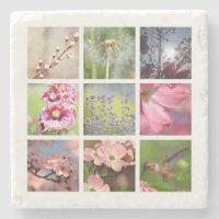 Create Your Own Photo Collage Stone Coaster