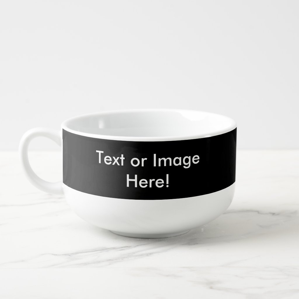 Create-Your-Own Photo Upload Soup Bowl Cup