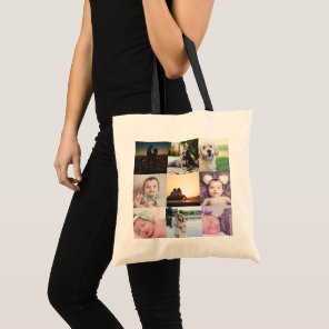 Create Your Own Unique Personalised 9 Photo Tote Bag