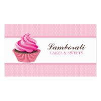 Cupcake Bakery Pink Elegant Modern Cute Business Card