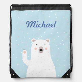 Custom Cute Polar Bear in the Snow
