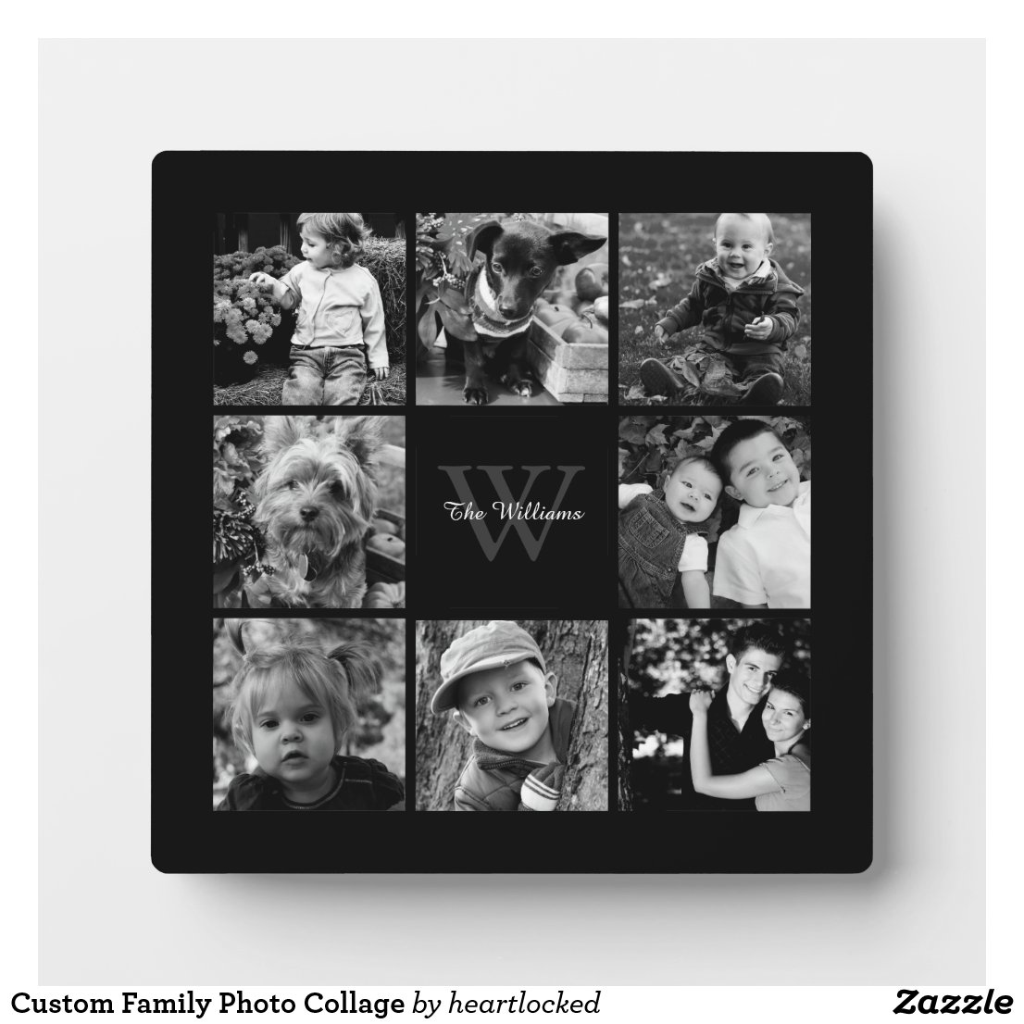 Family Photo Collage Plaque