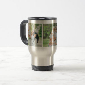 Custom Instagram 3 Photo Personalised Travel Mug