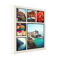 Custom Instagram Photo Collage Wrapped Canvas Art Canvas Print