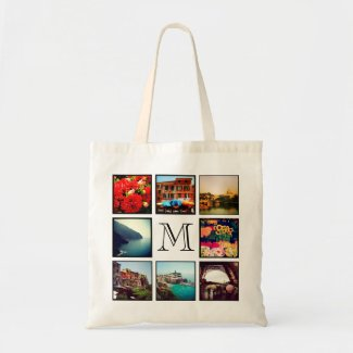 Instagram Photo Collage Tote Bag