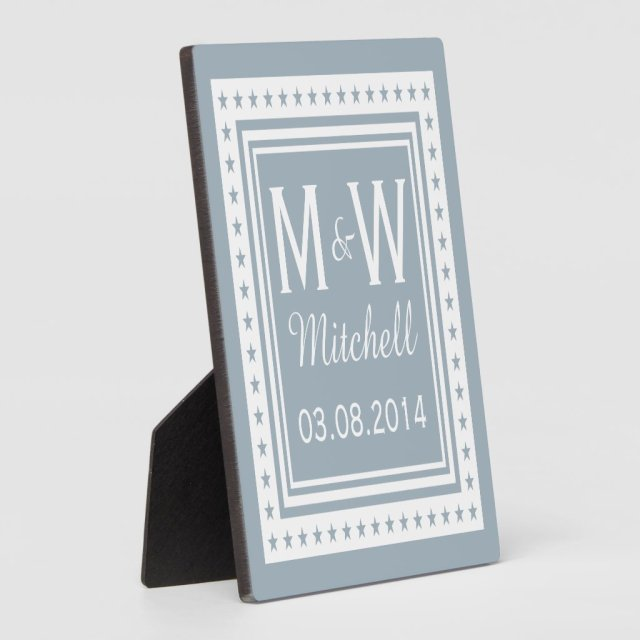 Monogram Wedding Plaque