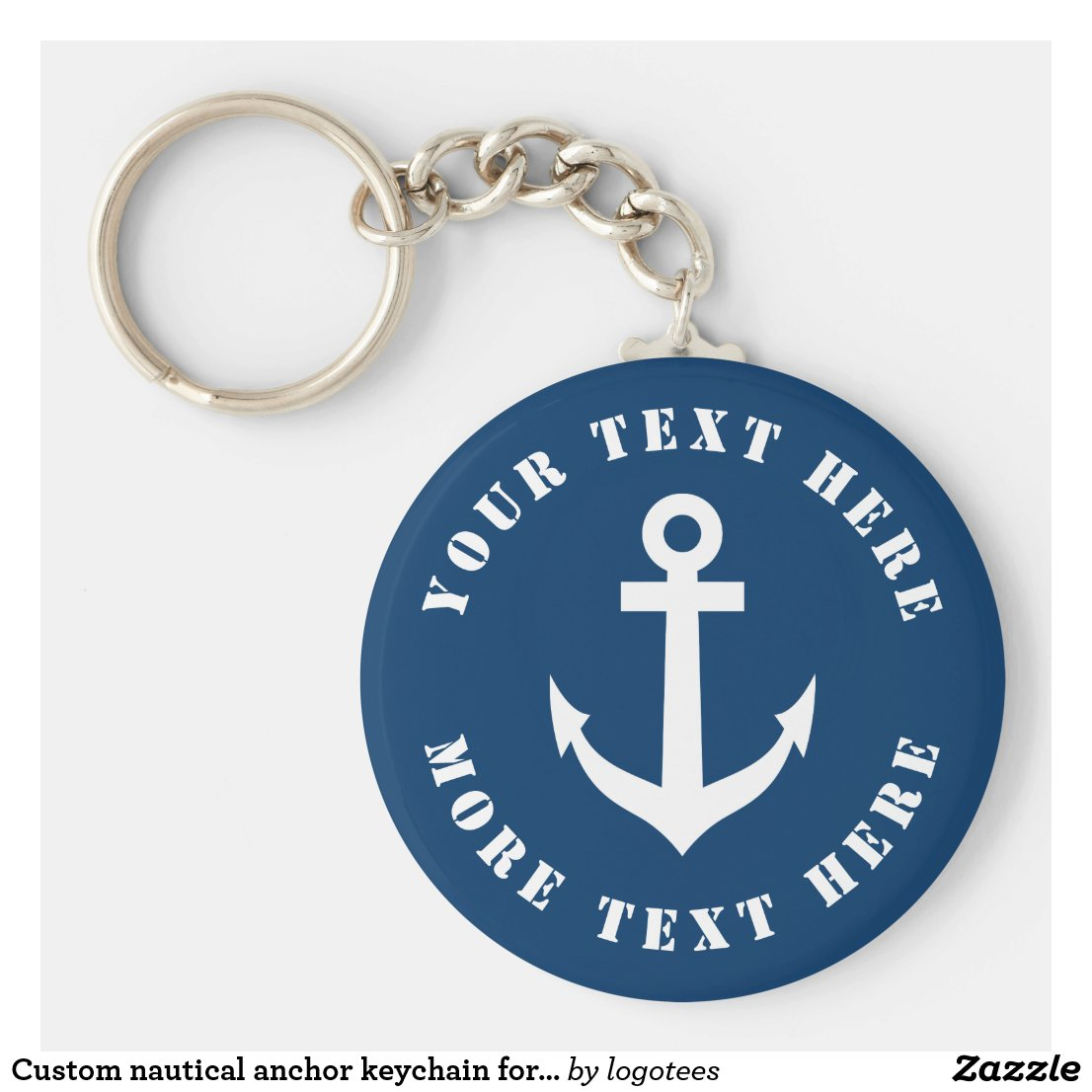 Custom nautical anchor keychain