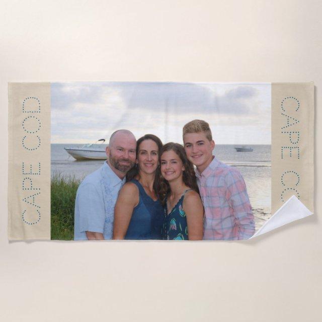 Custom photo beach towel - personalised gift