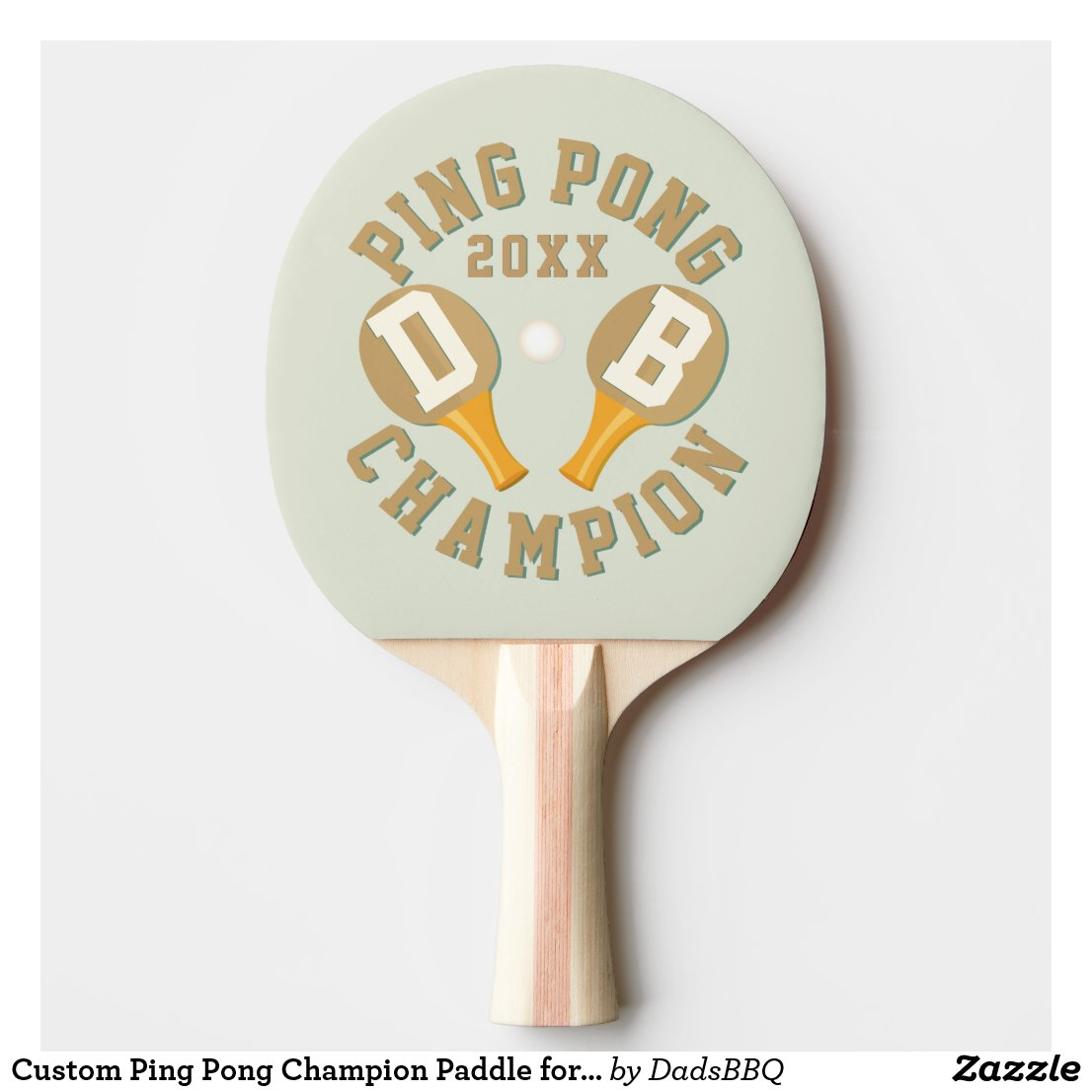 Custom Ping Pong Champion Paddle for Champions