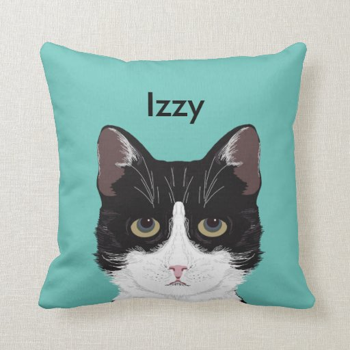 Customisable Cat Name - Black and White Tuxedo Cat