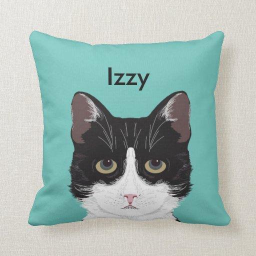 Customisable Cat Name - Black and White Tuxedo Cat