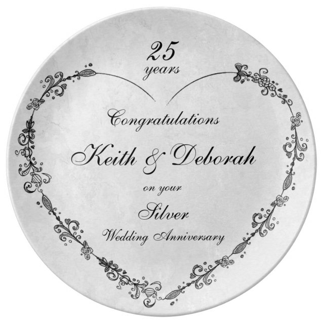 Customisable Silver Wedding Anniversary