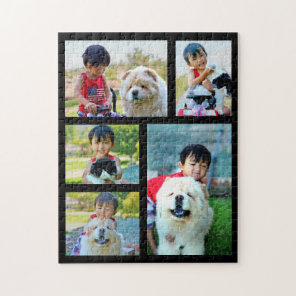 Customised Image Collage 5 Photo Jigsaw Puzzle