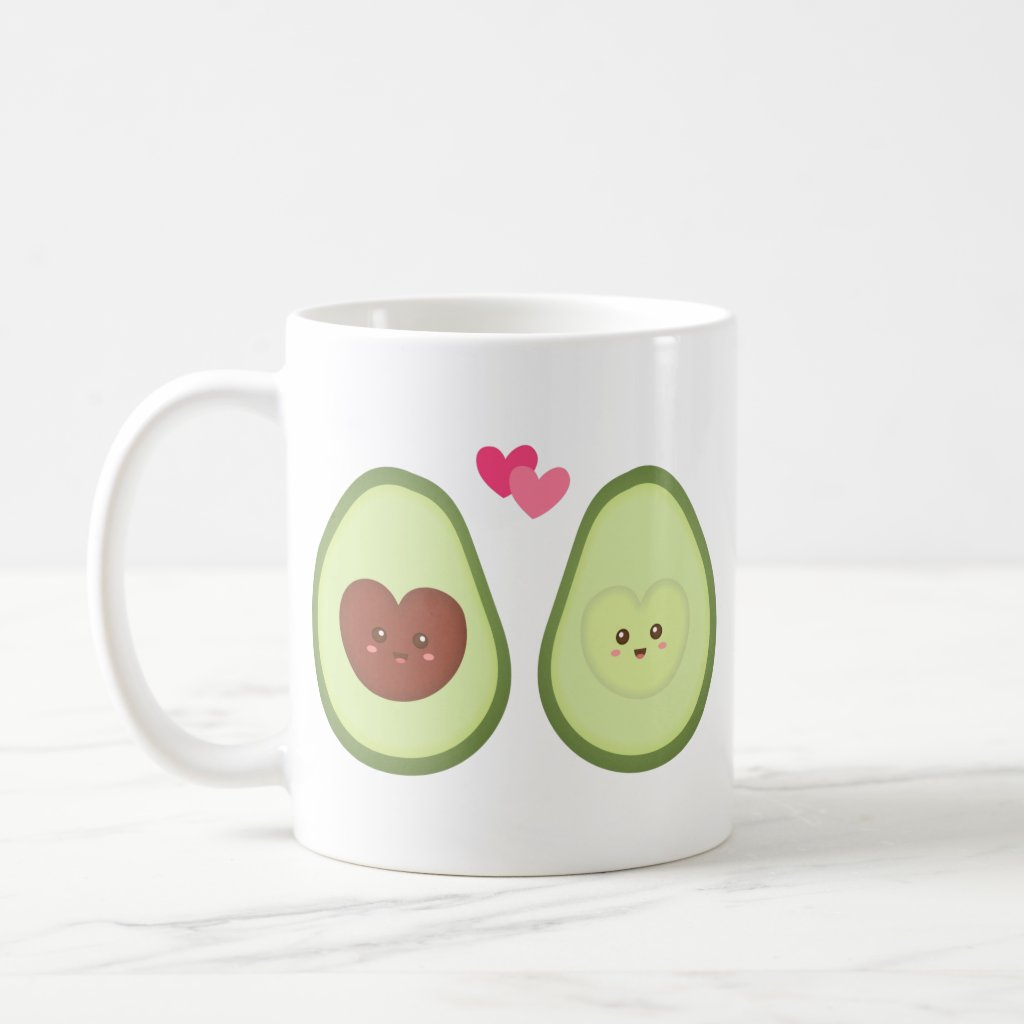 Cute Avocado couple in love, My other half Coffee Mug