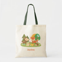 Woodland Animal Tote Bag
