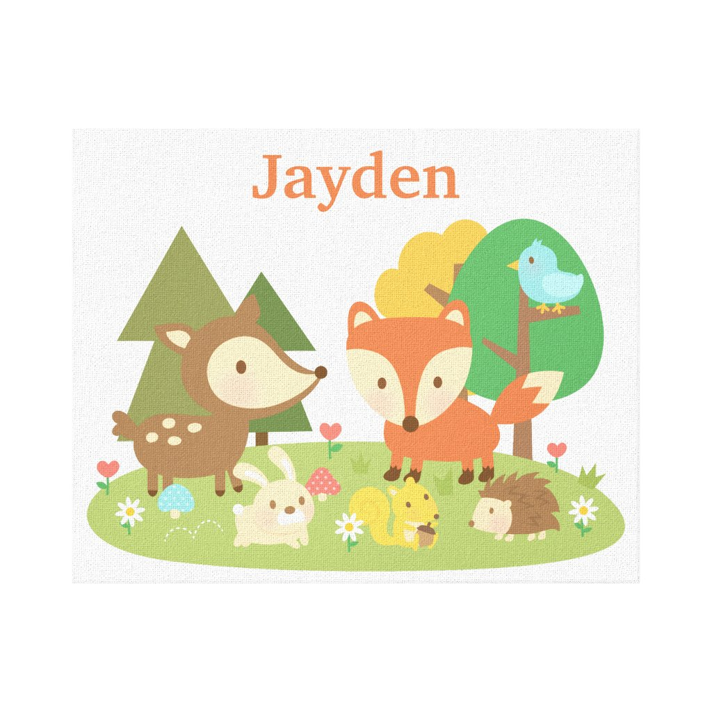 Forest Woodland Animal Canvas Print