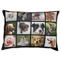 Photo Collage Dog Bed