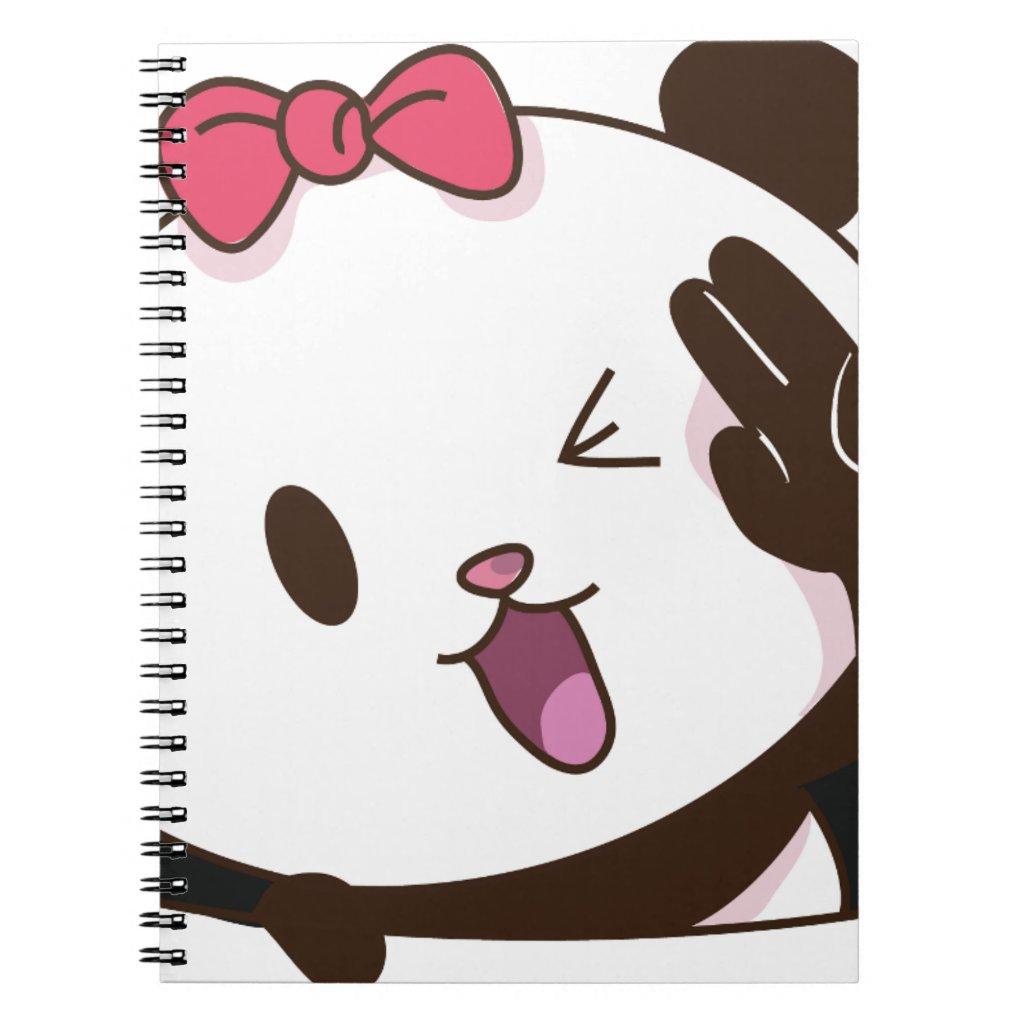 Cute girl panda OK! Notebook