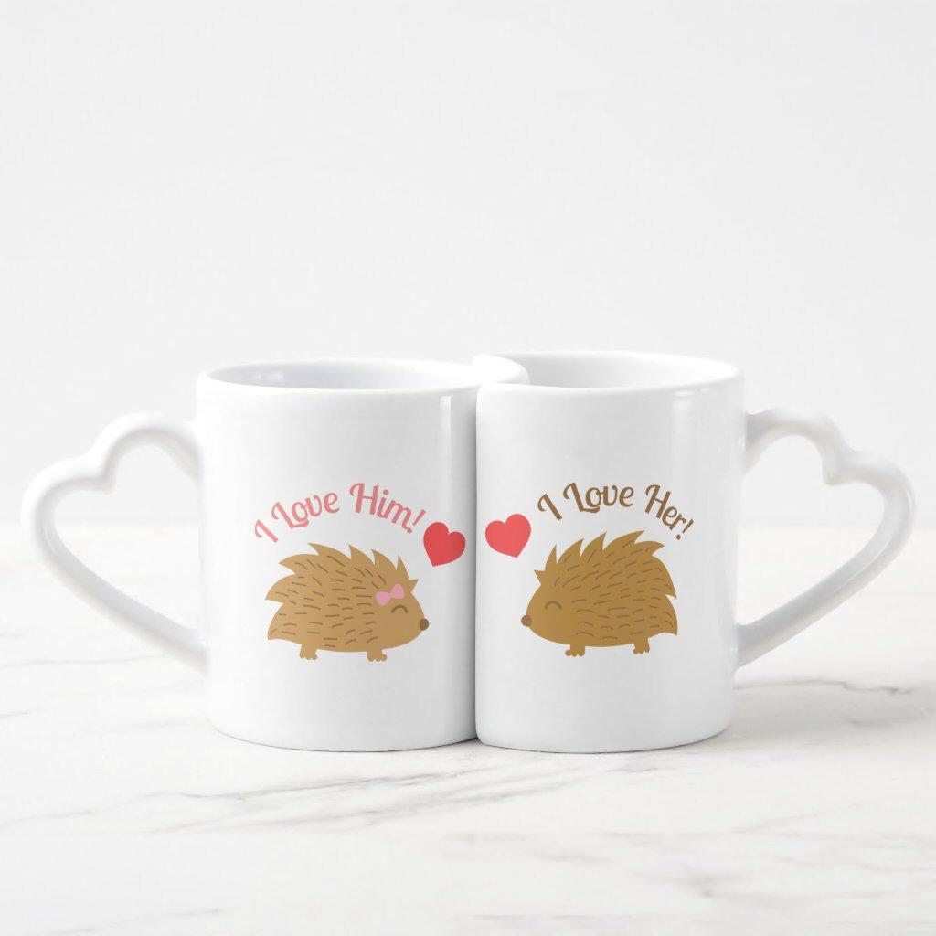 Hedgehog Couple Mug