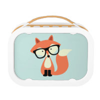 Cute Hipster Red Fox Lunch Box