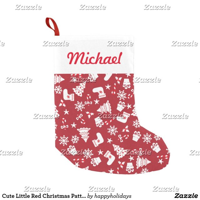Cute Little Red Christmas Pattern