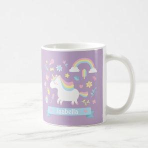 Cute Little Unicorn Rainbow Girls Mug