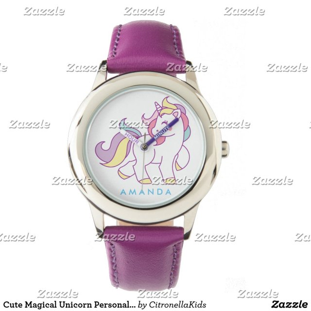 Cute Magical Unicorn Personalised Watch