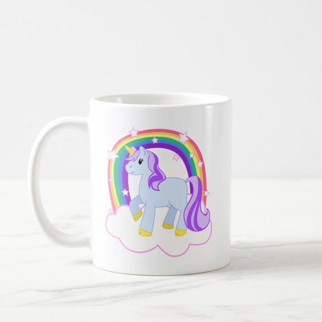 Cute Magical Unicorn with rainbow (Customisable!) Mug
