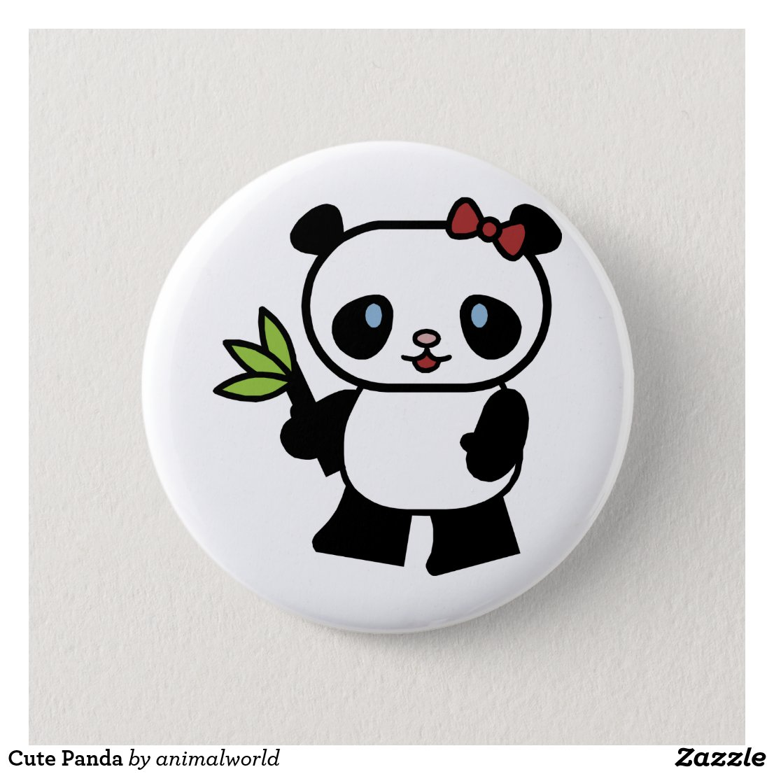 Cute Panda Badge