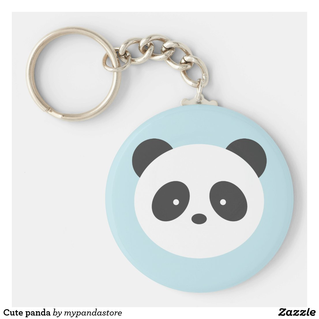 Cute panda keyring