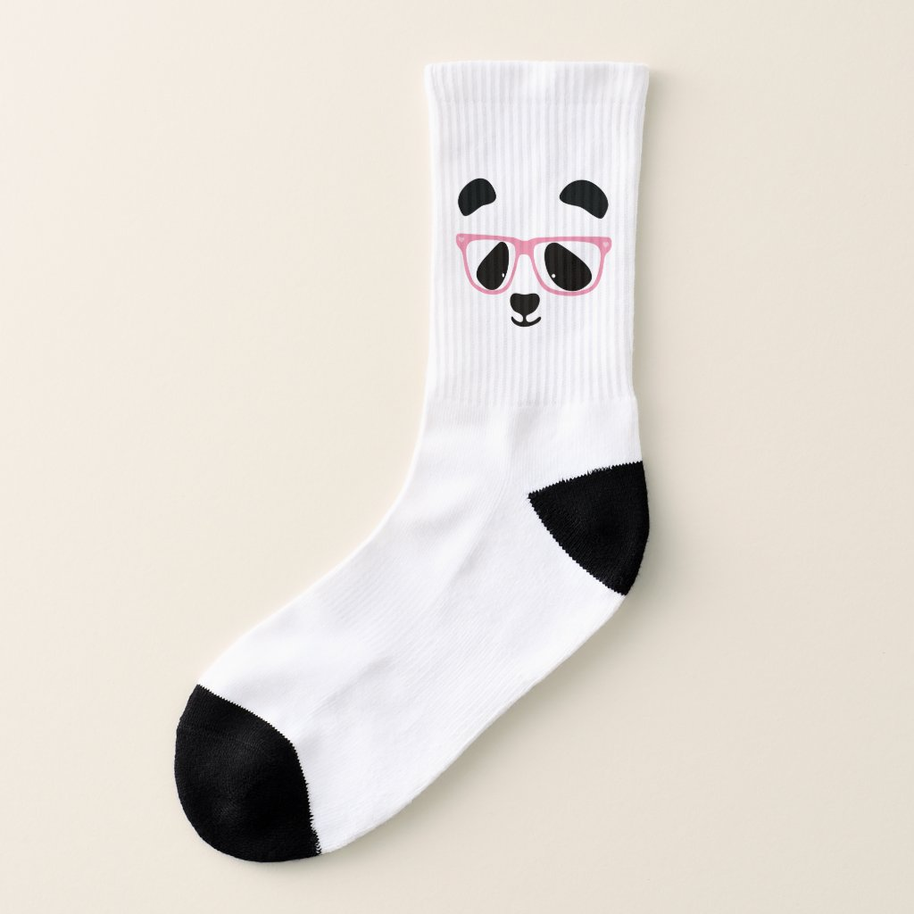 Cute Panda Face Socks