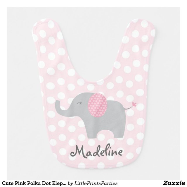 Cute Pink Polka Dot Elephant