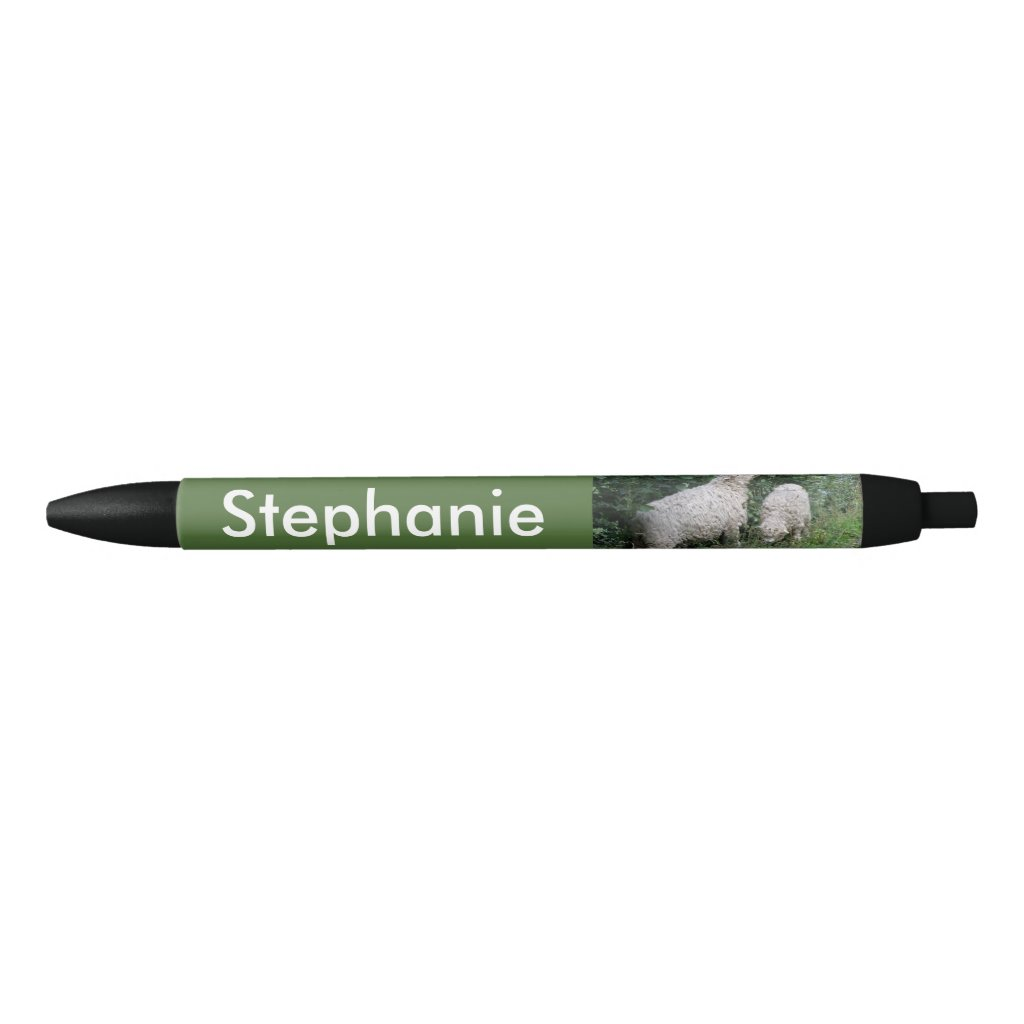 Cute Sheep Eating Leaves Personalised Pen