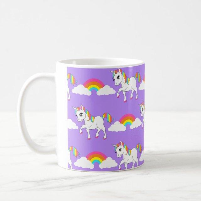Cute Unicorn and Rainbows Mug