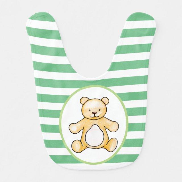 Cute vintage teddy bear drawing bib
