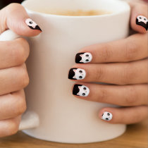 Cute White Kawaii Kitty Cat Minx® Nail Art