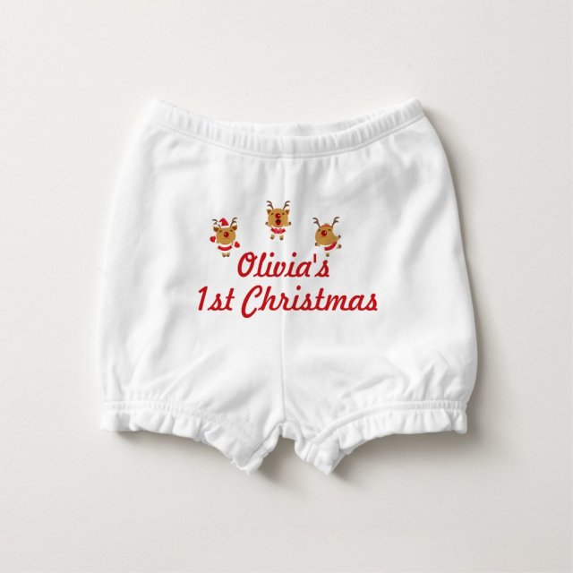 1st Christmas Nappy Cover