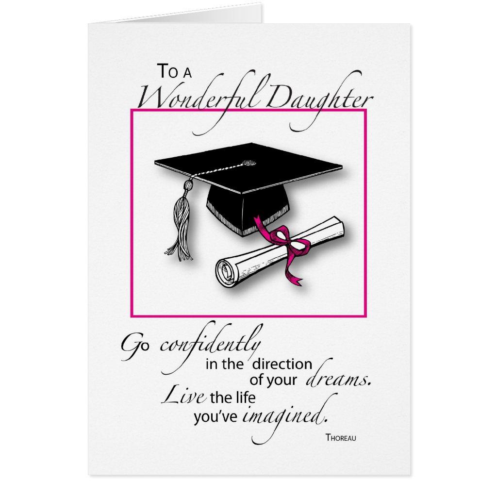 Daughter Graduation Pink Black