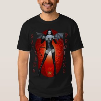 DEVIL GIRL GOTH SUCCUBUS GOETIA PAGAN WITCH NUN TSHIRT
