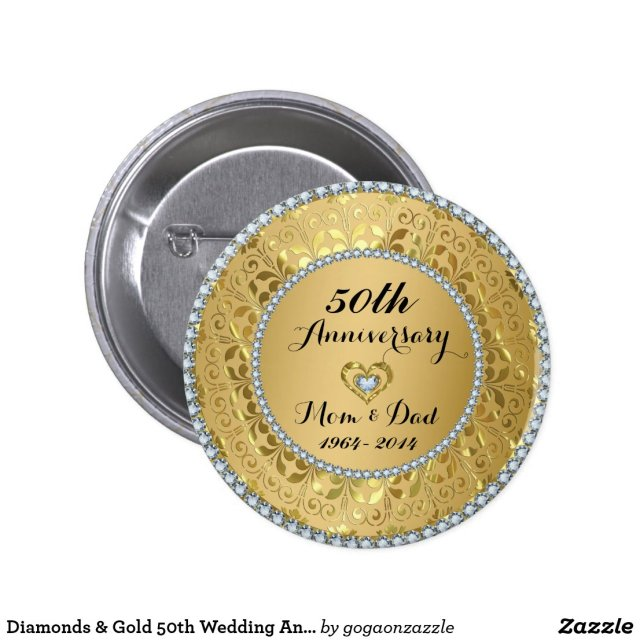 Diamonds & Gold 50th Wedding Anniversary