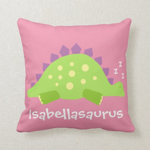 Dino Baby Girl Cushion
