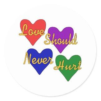 Domestic Violence Awareness Round Sticker