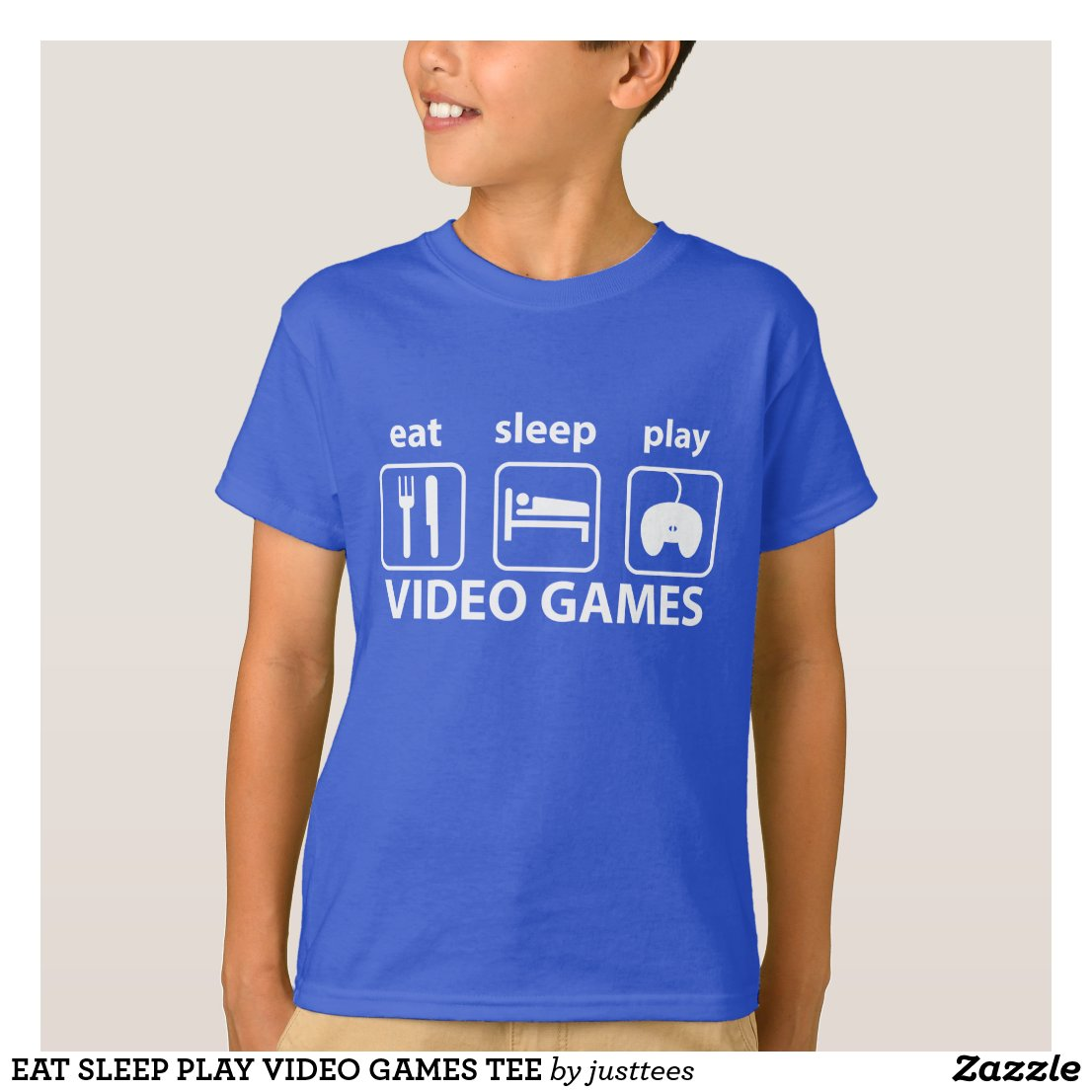 EAT SLEEP PLAY VIDEO GAMES TEE