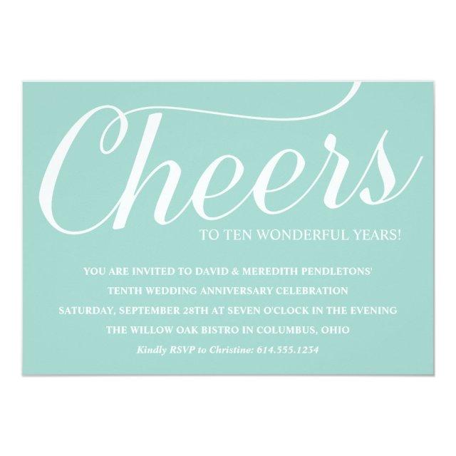 Elegant 10th Wedding Anniversary Party Invitation