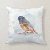 Bird Watercolor Cushion